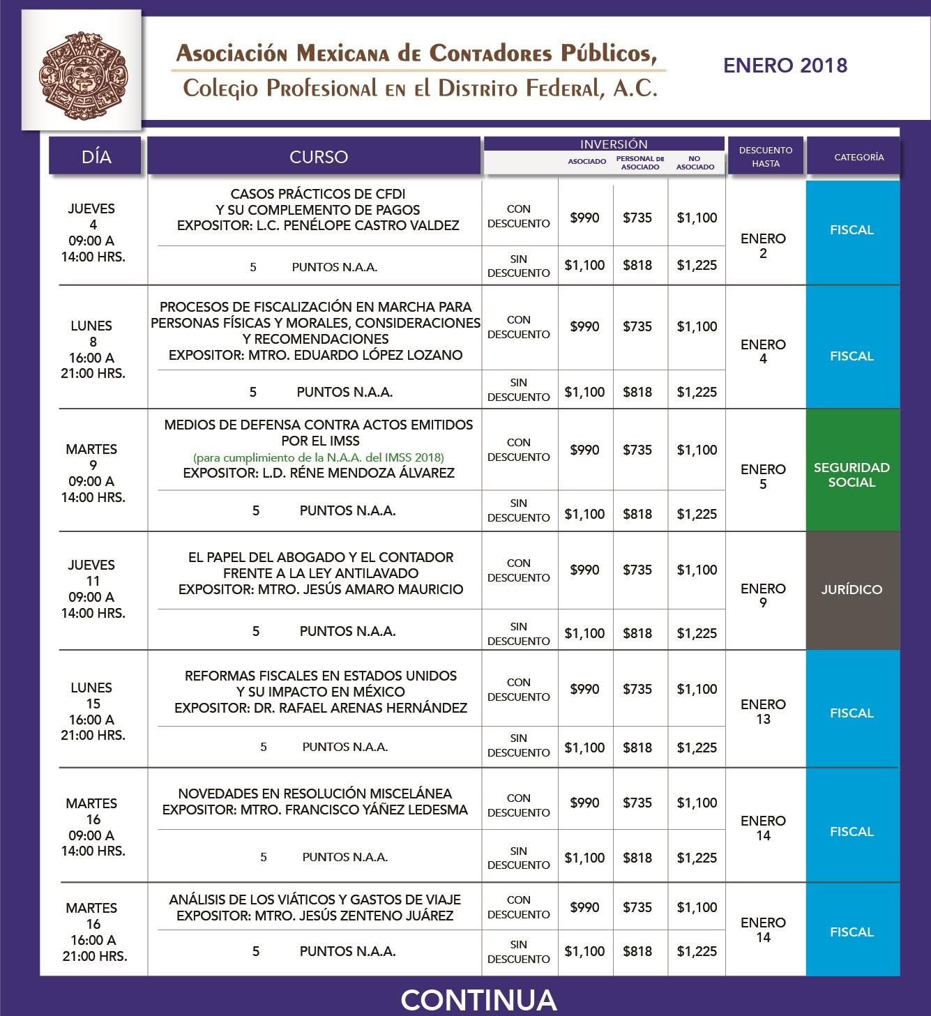 formato calendario mensual ENERO 18-01