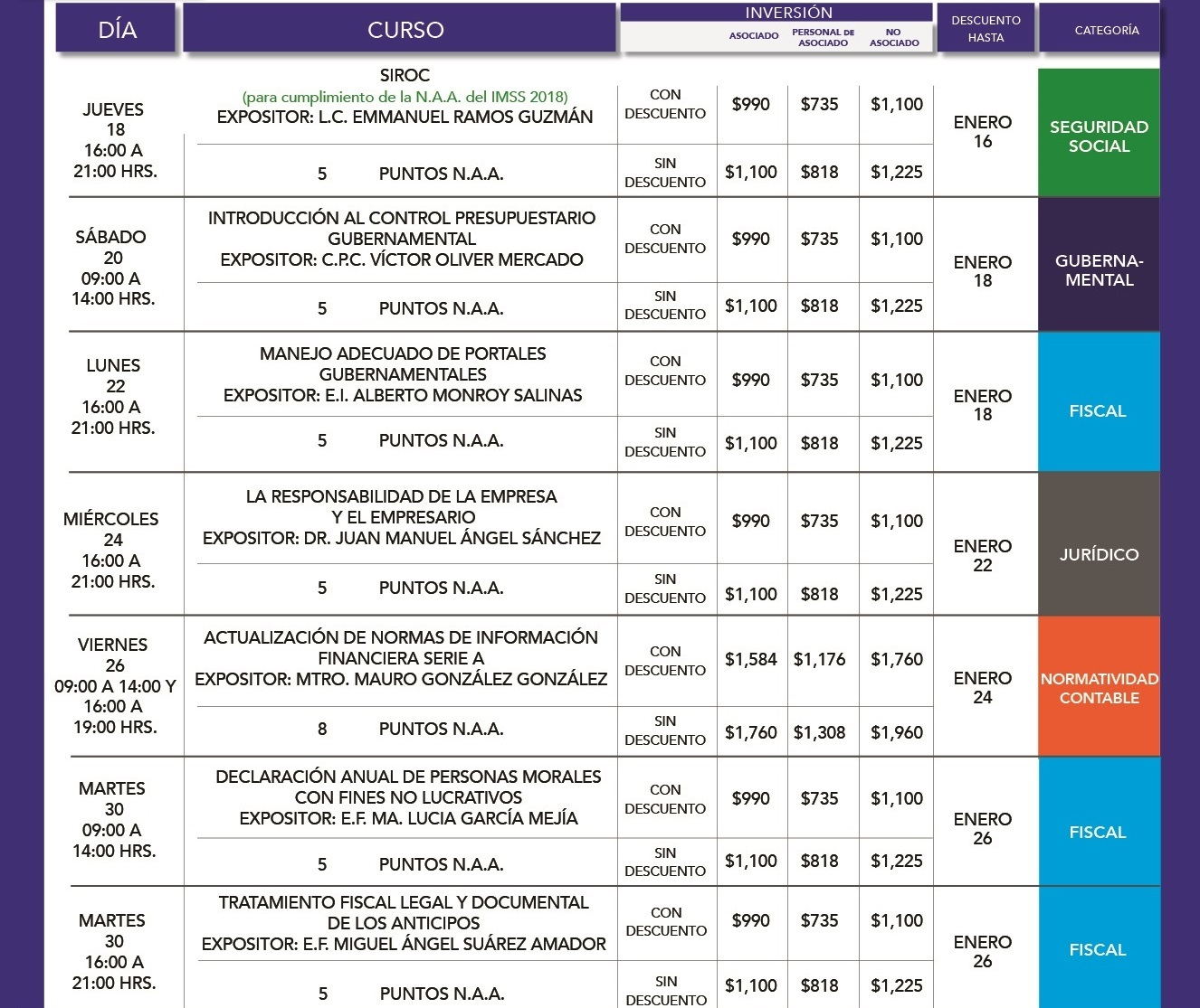 formato calendario mensual ENERO 18-02