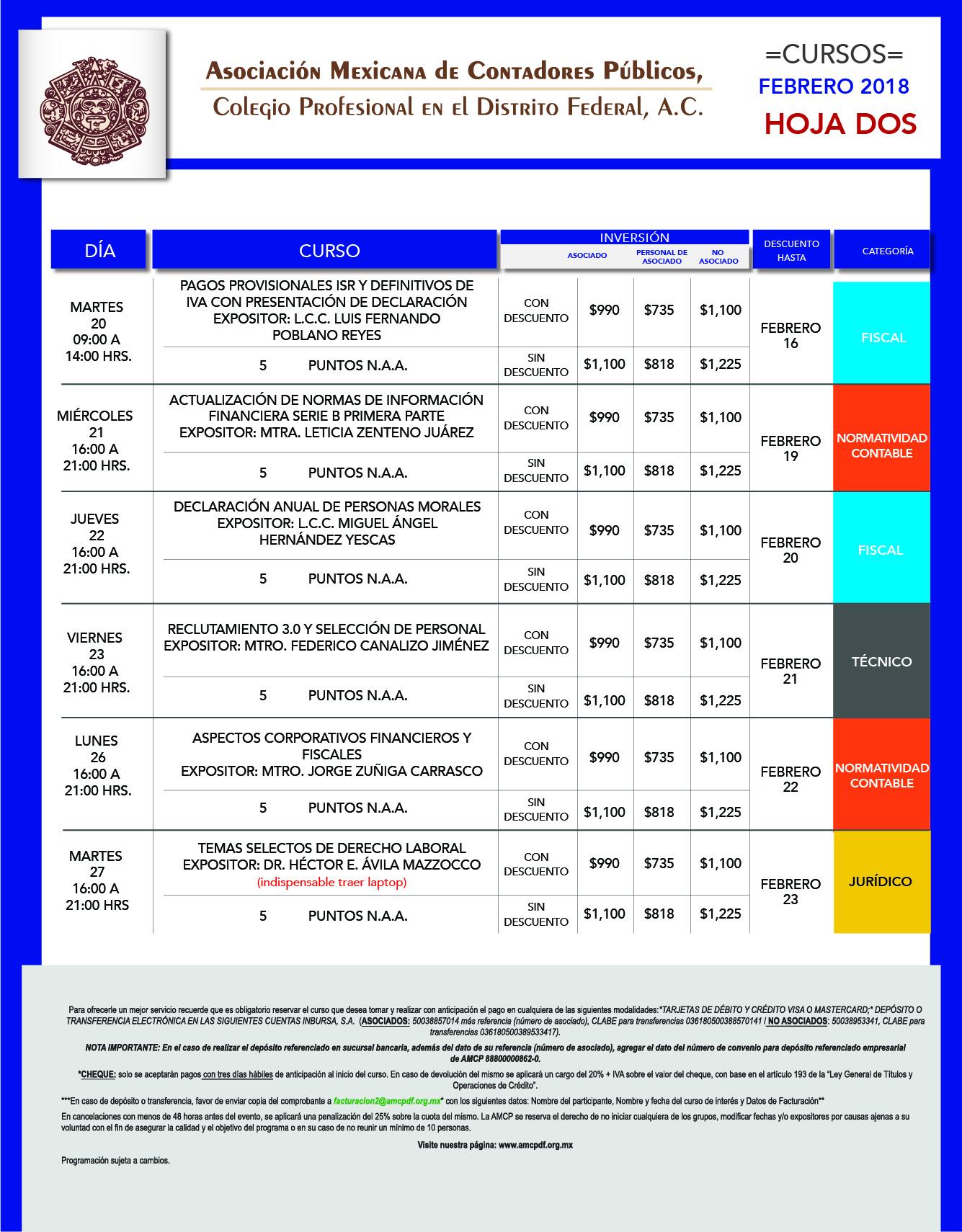 formato calendario mensual FEB 18-02